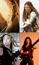 Blog picture: thumbnails of The Bride from Kill Bill, Queen Elizabeth I, Angelina Jolie, Officer Aeryn Sun of Farscape