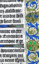 Blog picture: illuminated gothic manuscript in white, gold, green and blue